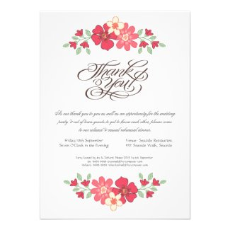 Wedding Rehearsal Dinner Rustic Floral Flowers Announcement