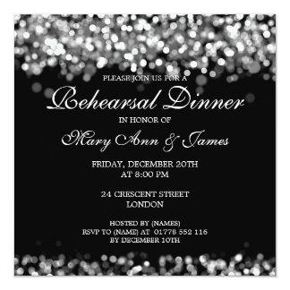 Wedding Rehearsal Dinner Silver Lights Card