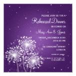 Wedding Rehearsal Dinner Summer Sparkle Purple 5.25x5.25 Square Paper Invitation Card