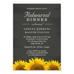 Wedding Rehearsal Dinner Sunflowers Chalkboard Card