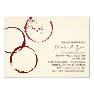 Wedding Rehearsal Dinner | Wine Stain Rings Card