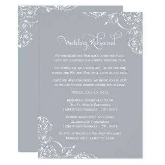 Wedding Rehearsal | Light Gray Scroll Card