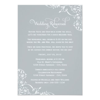 Wedding Rehearsal | Light Gray Scroll Card