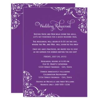 Wedding Rehearsal | Purple Scroll Card