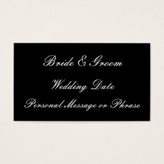 Wedding Reminder Insert for Invitations or Favors