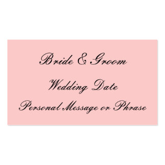 Wedding Reminder Insert for Invitations or Favors Double-Sided Standard Business Cards (Pack Of 100)
