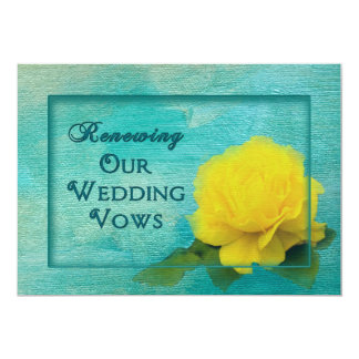 Wedding Renewal of Vows - Yellow Rose Card