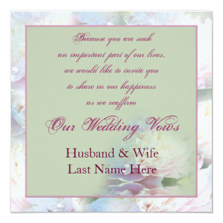 Wedding Renewal - Peony Card