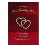 Wedding Renewal - Two Hearts are One Card