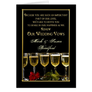 Wedding Renewing of Vows Invitation - Rose/Wine