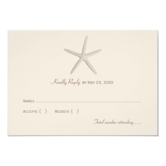 Wedding Reply Card 1 | Neutral Starfish