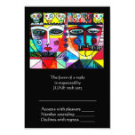 """Wedding Reply Card - Day Of The Dead 3.5"""" X 5"""" Invitation Card"""