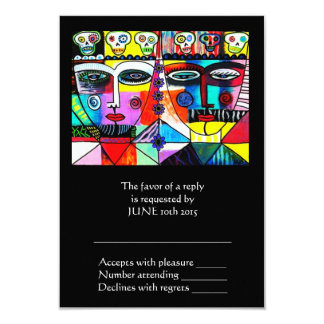 Wedding Reply Card - Day Of The Dead