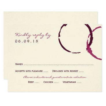 Plush_Paper Wedding Reply Card | Wine Stain Rings