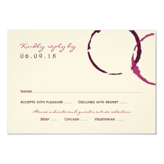 Wedding Reply Card | Wine Stain Rings