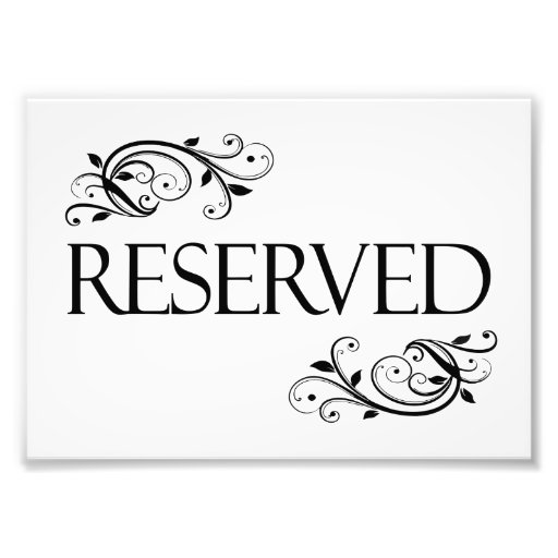 Modest image for printable reserved table signs