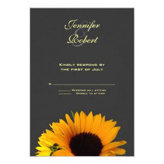 Wedding Response Card Announcement