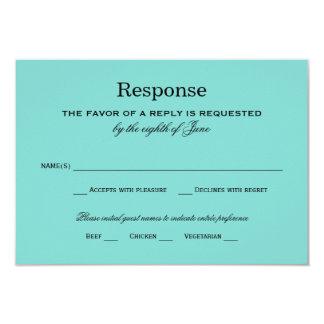 Wedding Response Card | Aqua Blue