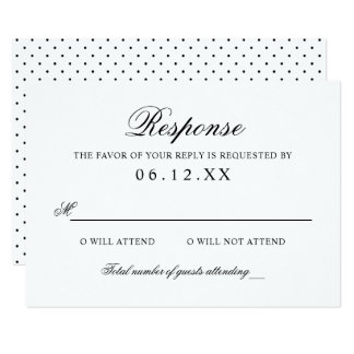 Wedding Response Cards - Invitations, Greeting & Photo Cards | Zazzle