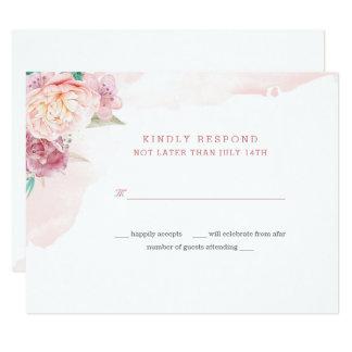 Wedding Response Card | Blush and Blooms