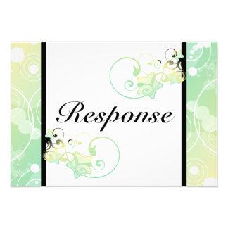 Wedding Response Card Bubble Star Fairy Tale