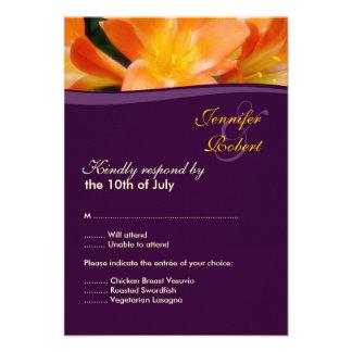Wedding Response Card Custom Invitations