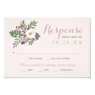 Wedding Response Card   Fall Boho Florals