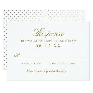 Wedding Response Card | Gold Classic Elegance