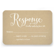 Wedding Response Card | Kraft Brown