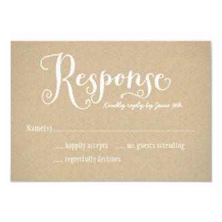Wedding Response Card | Kraft Brown