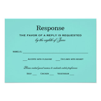 Wedding Response Card Little Blue Box