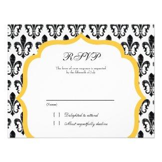 Wedding Response Card | New Orleans | Gold