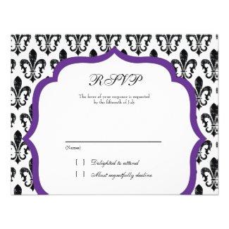 Wedding Response Card | New Orleans | Purple