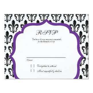 Wedding Response Card | New Orleans | Purple Personalized Announcement