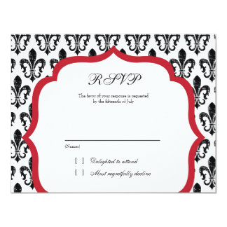 Wedding Response Card | New Orleans | Red Personalized Invites