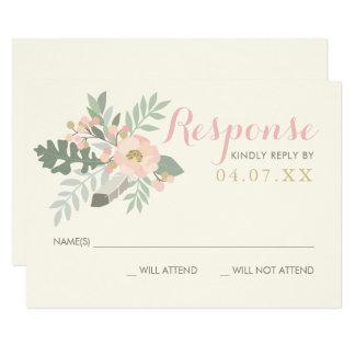 Wedding Response Card   Spring Vintage Boho