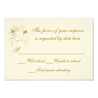 Wedding Response Card Wedding Bells Personalized Announcement