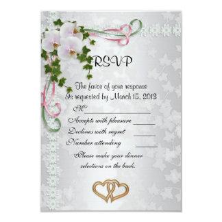 Wedding response cards elegant  white Orchids