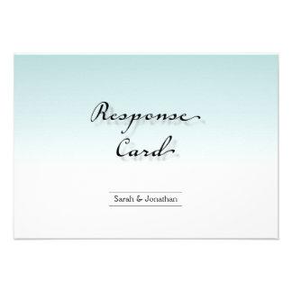Wedding Response RSVP Card Clean Crisp Simple