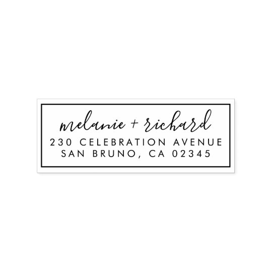 wedding return address for rsvps  thank you cards rubber