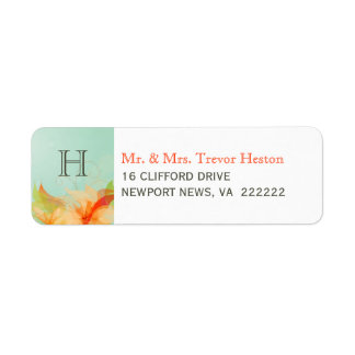 Wedding Return Address Labels - Abstract Floral