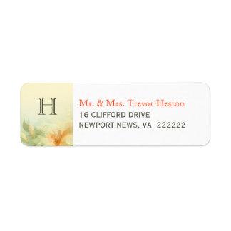 Wedding Return Address Labels - Abstract Floral