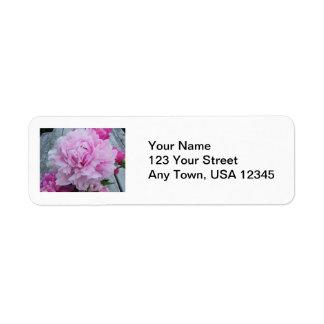 Wedding Return Address Lables Pink Peonies Flowers Label