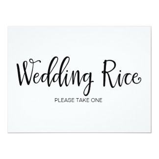 Wedding Rice Send Off Table Sign Card