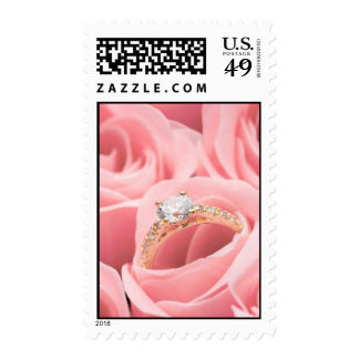 Wedding Ring and Roses Postage