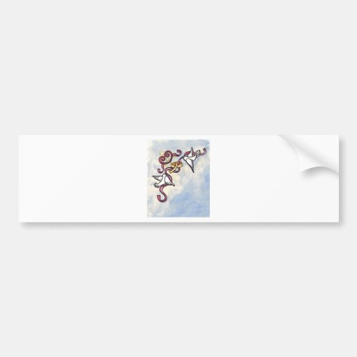 Wedding ring doves bumper stickers