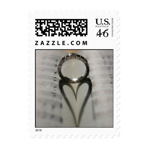 Wedding Ring Heart Postage