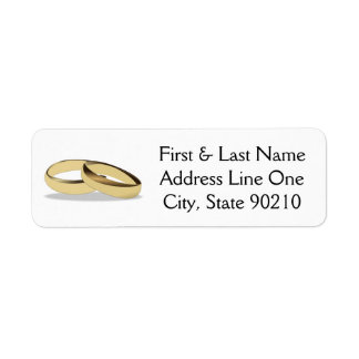 Wedding Ring Return Address Label
