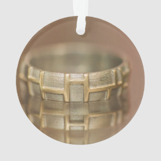 Wedding ring macro ornament