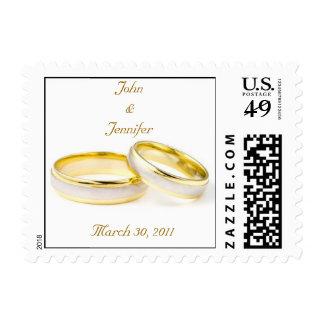 Wedding Ring Postage Stamp